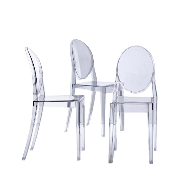 victoria ghost philippe starck victoria ghost chaise 4 unit 233 ... - Chaises Philippe Starck Kartell